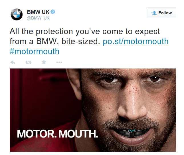 BMW April Fool 2015 Motormouth tweet